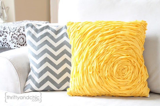 pillow tutorial - rosette