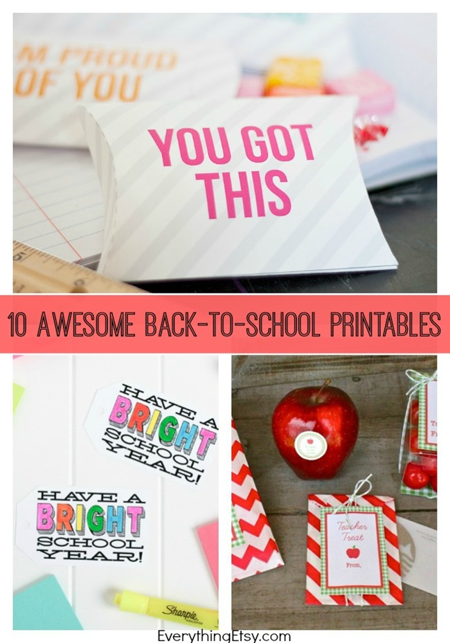 10 Back-to-School Printables on EverythingEtsy.com