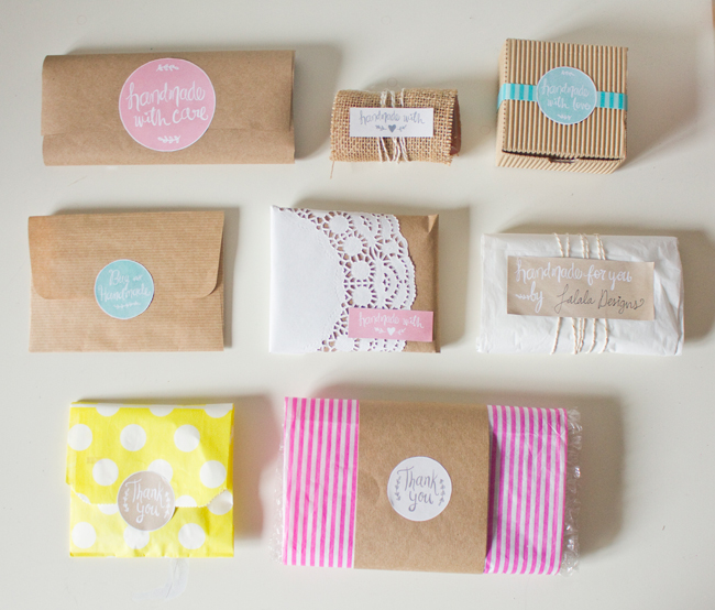 Beautiful Handmade Printable Labels