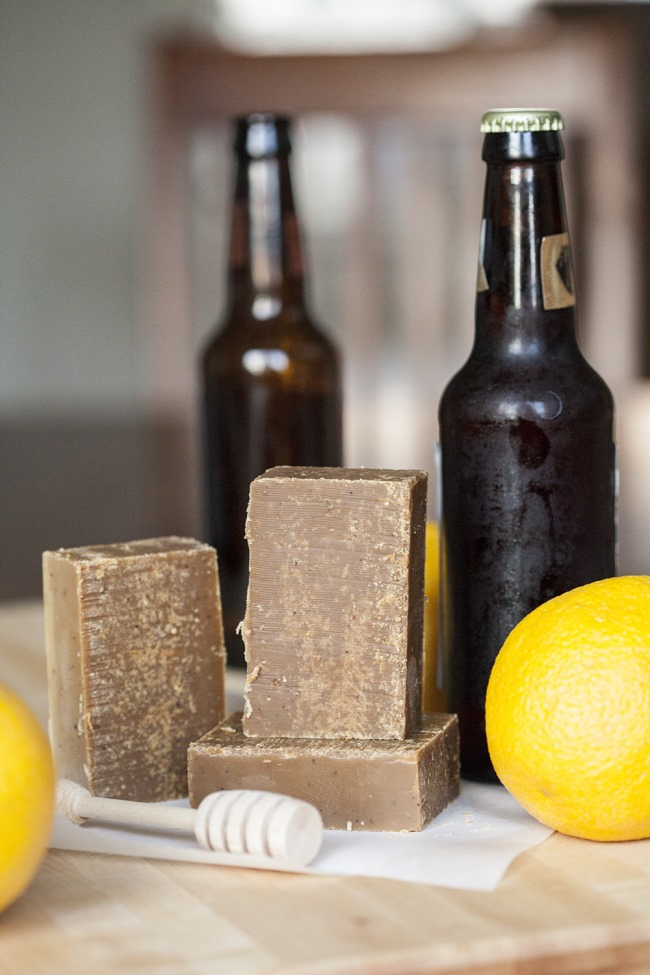 Diy homemade soap - beer