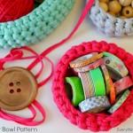 Free Crochet Bowl Pattern {Get Organized}