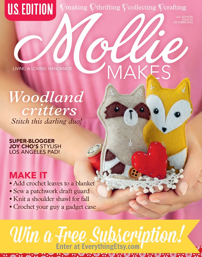 Win a subscription of Mollie Makes Magazine on EverythingEtsy.com