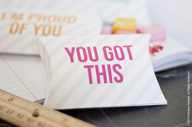 back to school pillow box notes