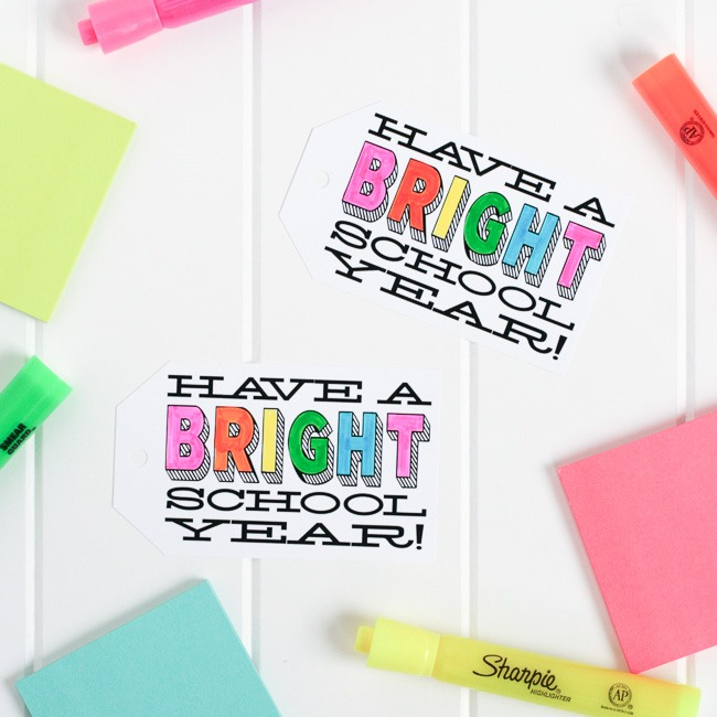back to school printables - bright new day