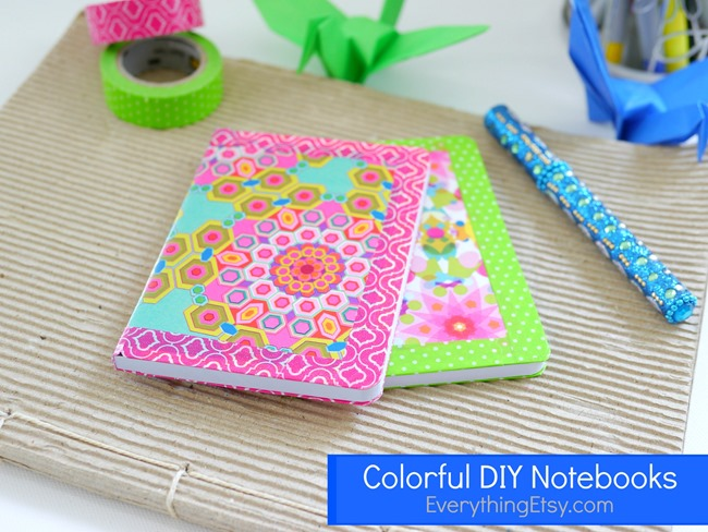 colorful diy notebooks on everythingetsy.com