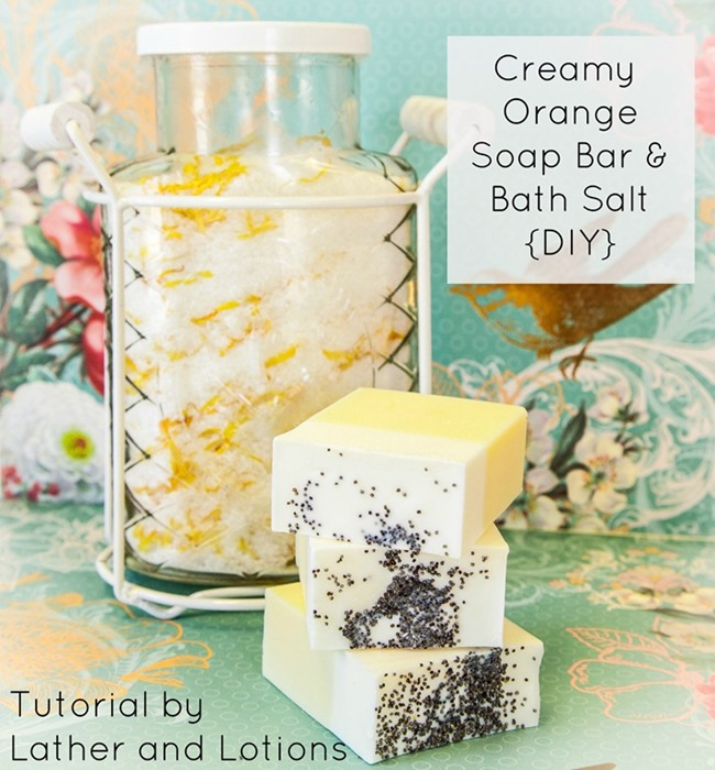diy homemade soap - creamy orange