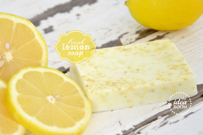 diy homemade soap - lemon