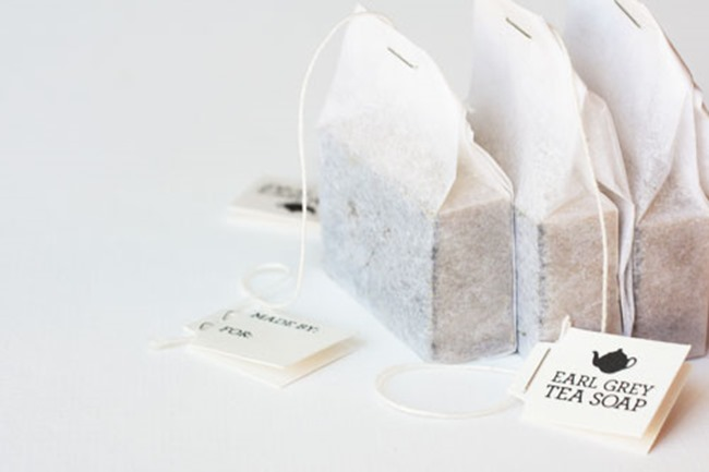 diy homemade soap - tea