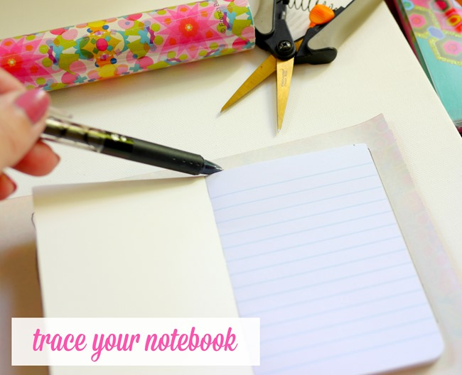 making a cute diy notebook