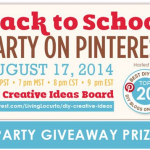 Back to School Pinterest Party {Awesome Prizes!!}