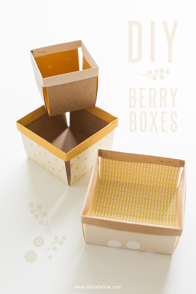 Crafty ways to organize - paper berry basket 2