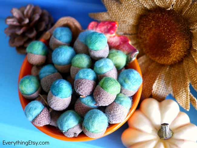 DIY Felt Acorns on EverythingEtsy.com