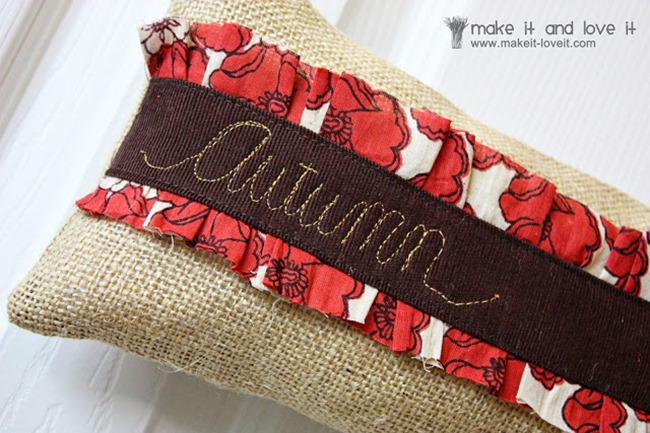 Fall Sewing Tutorials - Door Decoration