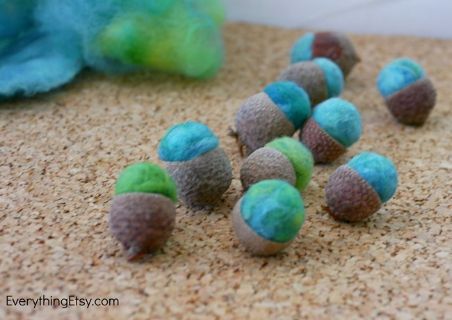 Felt Acorn Tutorial - Fall Home Decor on EverythingEtsy.com
