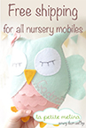 Free shipping for all the nursery mobiles!!