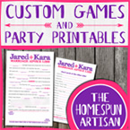 Personalized Party Printables: Bridal, Baby, & More!
