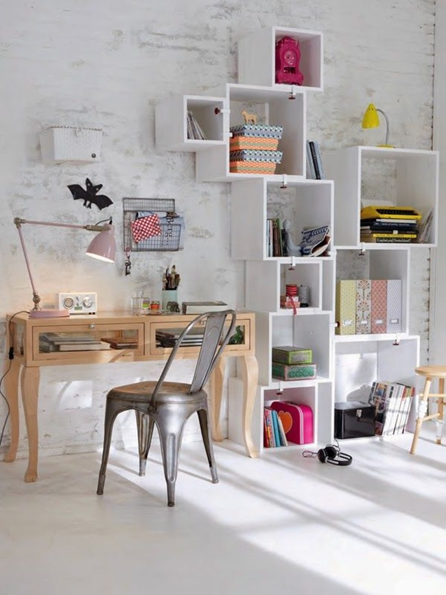 craft room inspiration - shelves