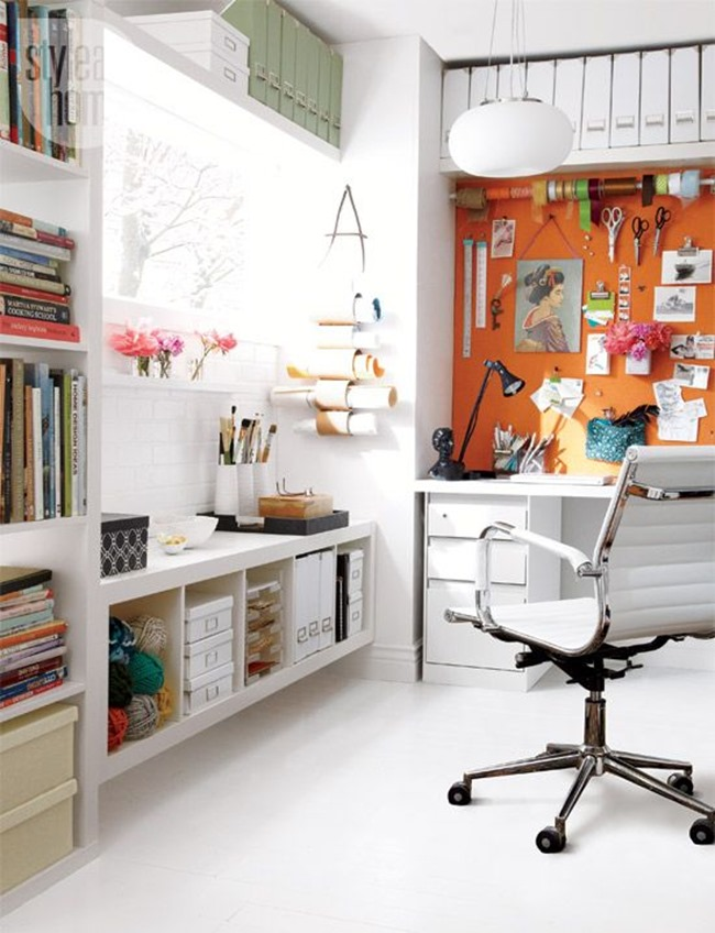 How To Design A Workspace At Home: Craft Room Inspiration–Wow!