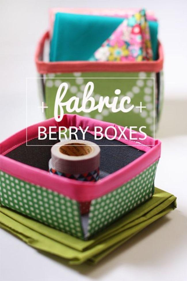 crafty ways to organize - berry basket 2