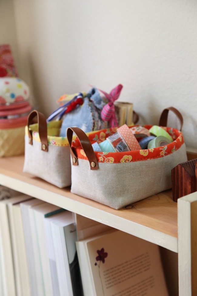 crafty ways to organize - fabric basket tutorial