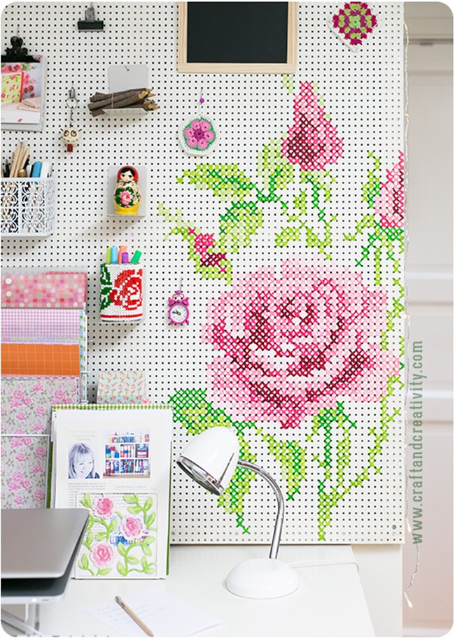 crafty ways to organize - pegboard