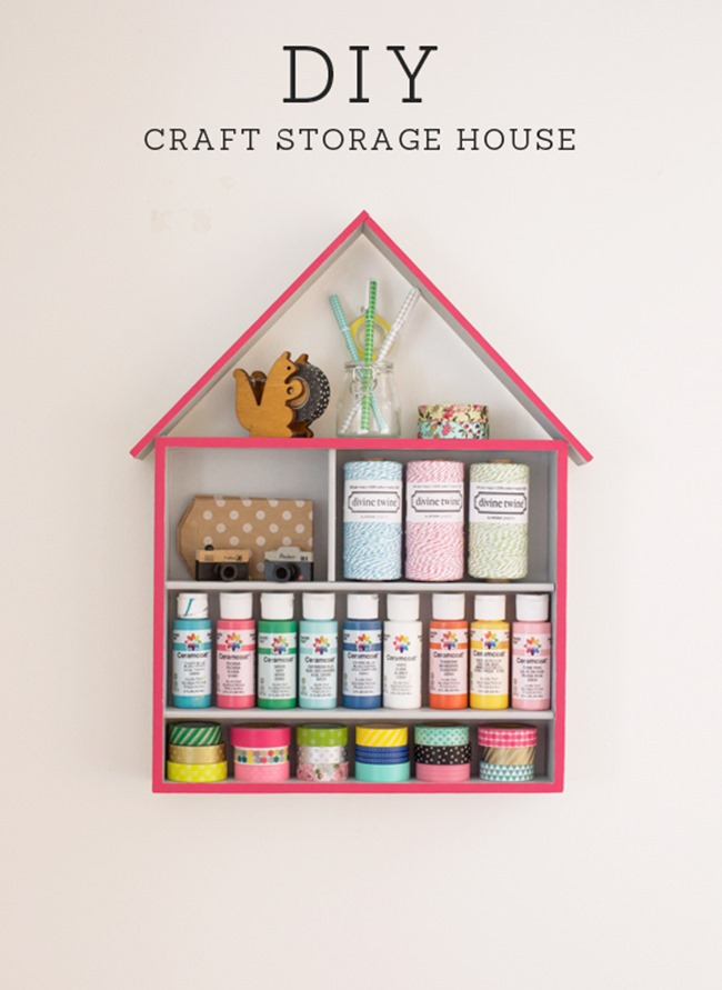 crafty ways to organize - storage house