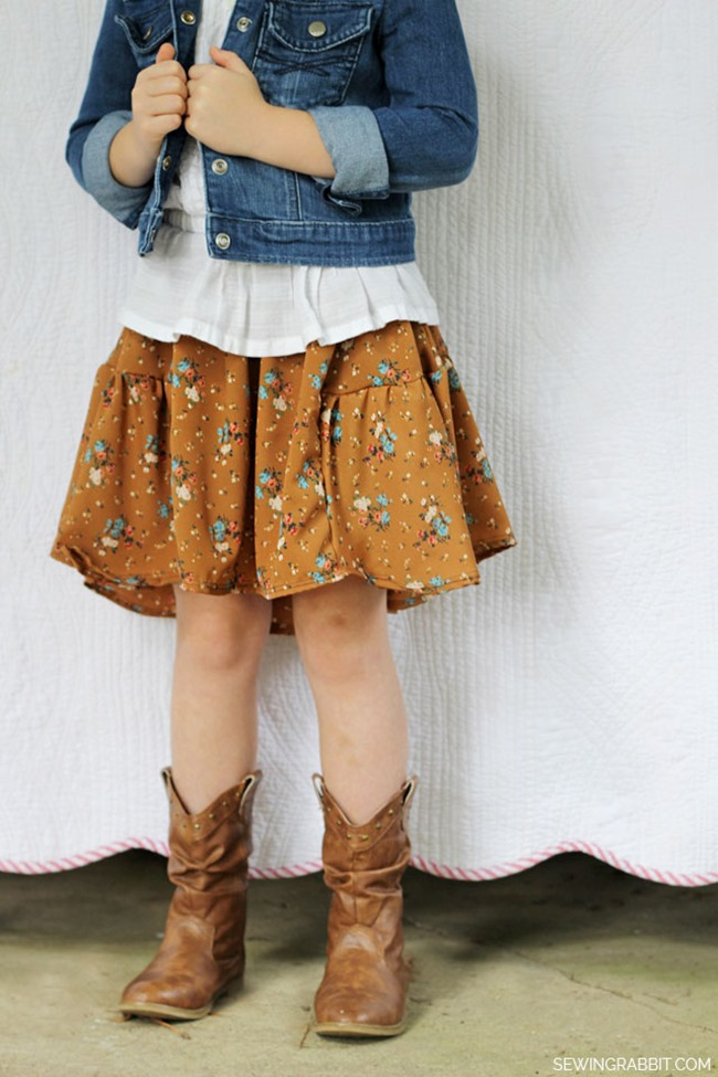 fall sewing tutorial - skirt