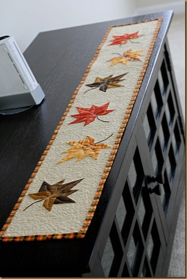 fall sewing tutorial - table runner