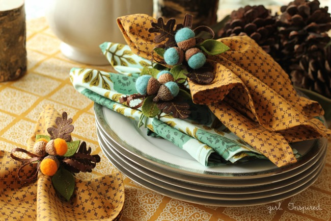 fall sewing tutorials - fall diy napkins