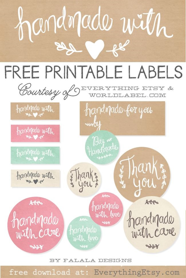 free handmade printable tags