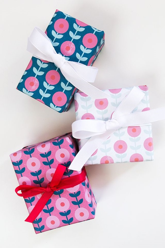 printable wrapping paper - flower