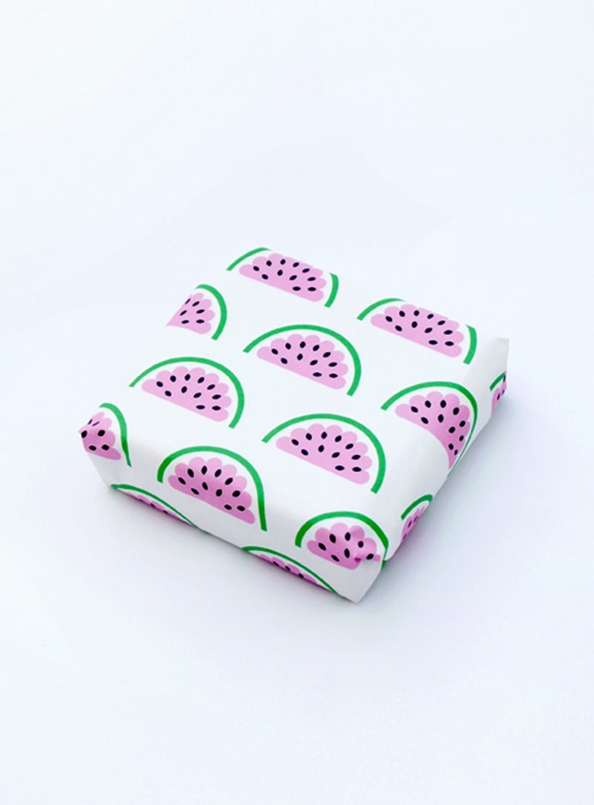 printable wrapping paper - watermelon