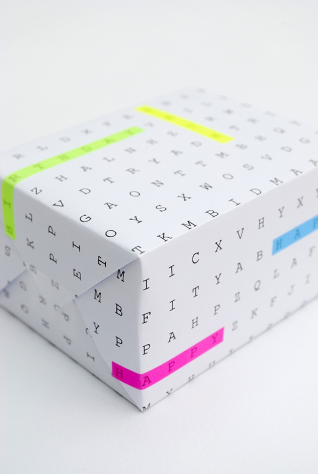 printable wrapping paper - word search