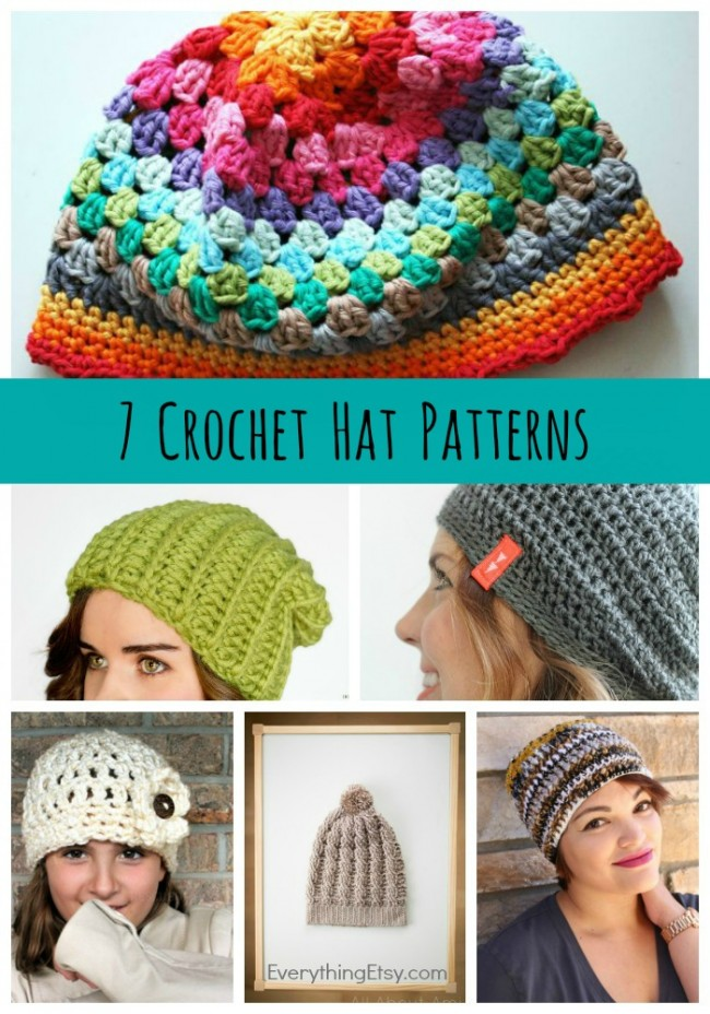 Free Crochet Hat Patterns {7 designs} on EverythingEtsy.com