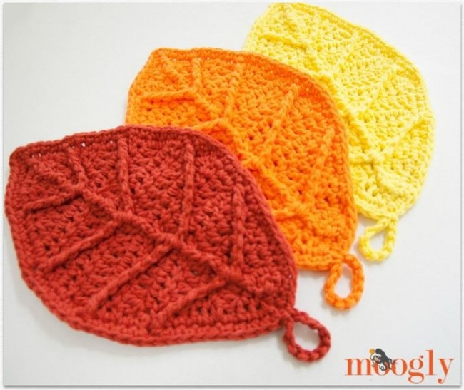 Crochet Leaf Pattern for fall