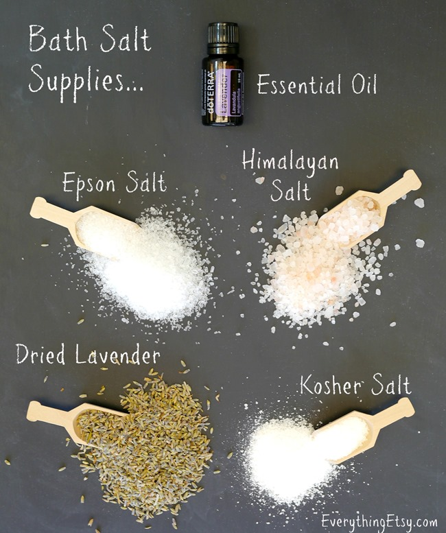 DIY Bath Salt Supplies on EverythingEtsy.com