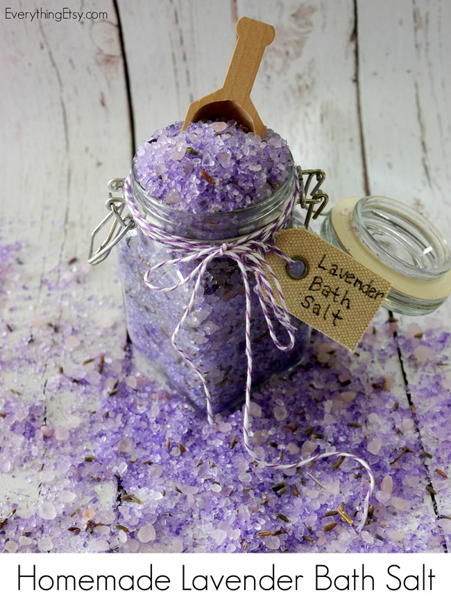 DIY Lavender Bath Salt using doterra essential oils on EverythingEtsy.com