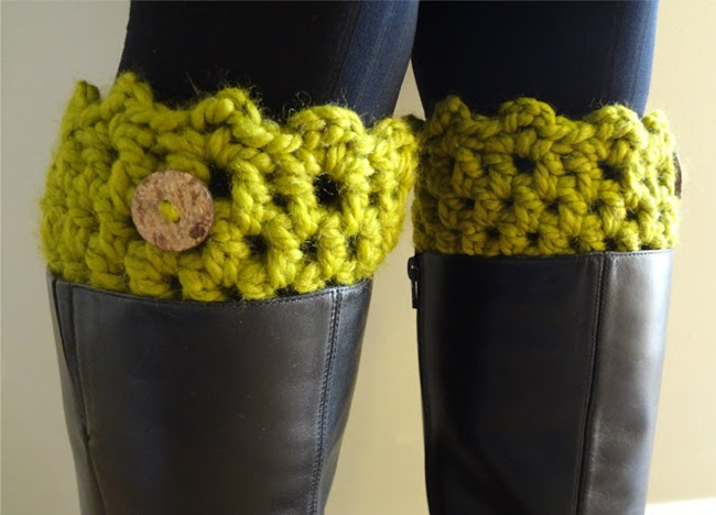 Free Crochet Boot Cuff Pattern 3