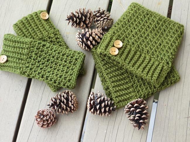 Free Crochet Boot Cuff Pattern 4
