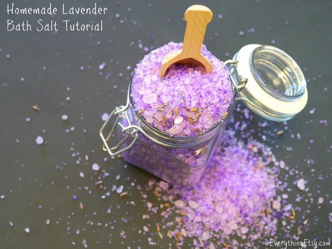 Homemade Lavender Bath Salt Tutorial