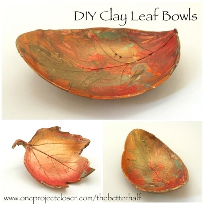 clay leaf bowl diy