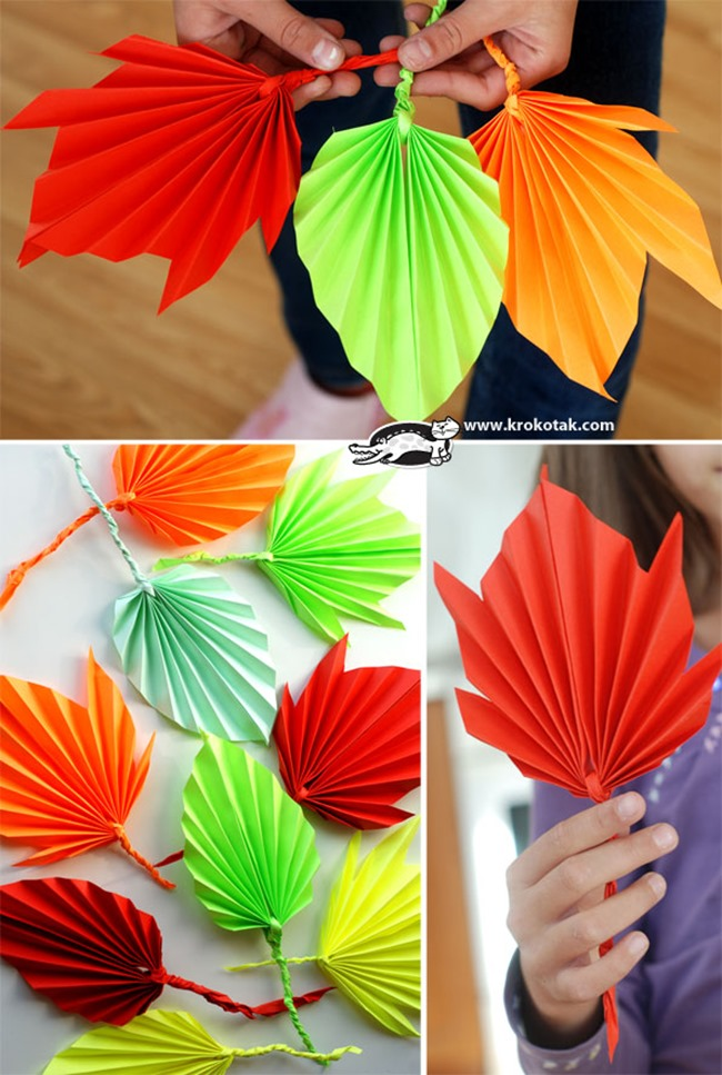 diy leaf decor for fall
