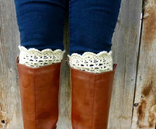 free crochet boot cuff pattern 5