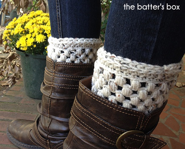 free crochet boot cuff pattern 6