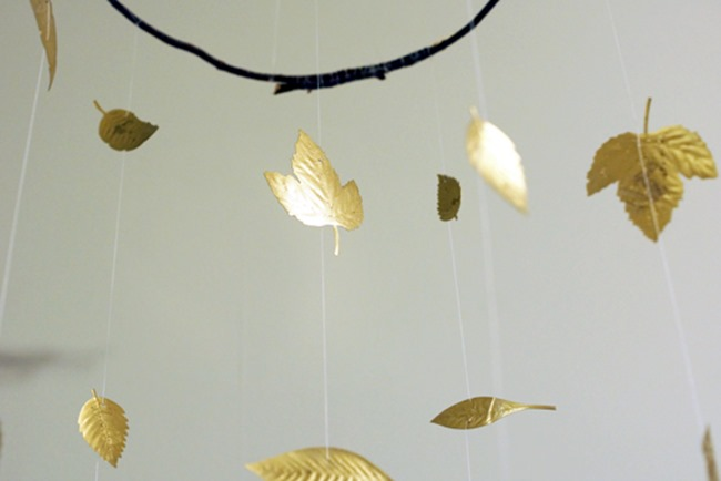 gold leaf mobile