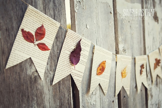 leaf banner diy - simple as that