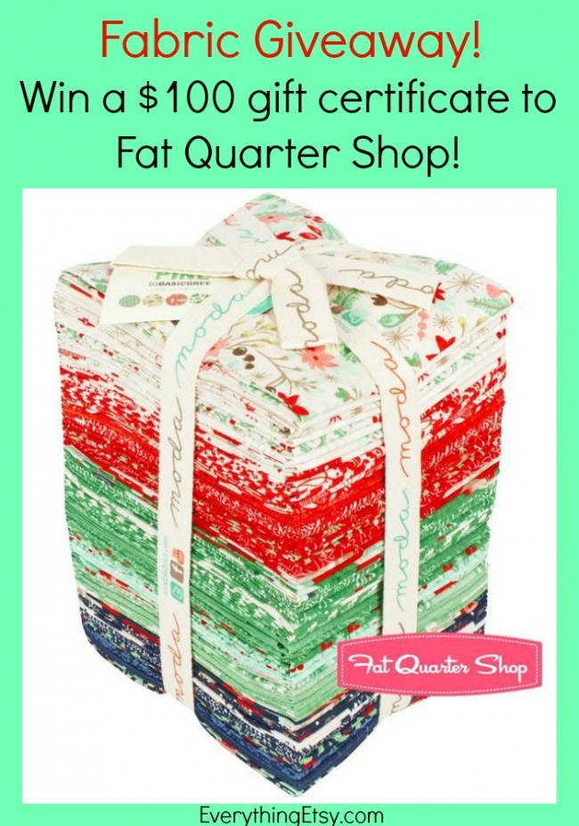 Fabric Giveaway - Fat Quarter Shop - Enter at EverythingEtsy.com