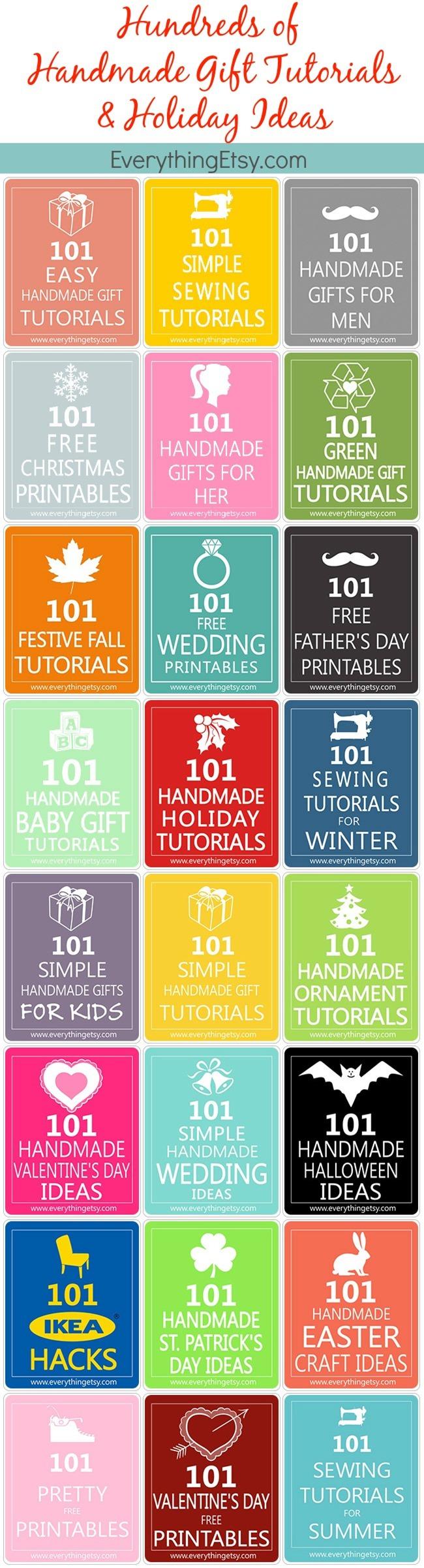 Handmade Gift Tutorials & Holiday Ideas...Hundreds of them on EverythingEtsy.com