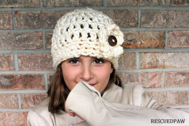 flower hat crochet pattern