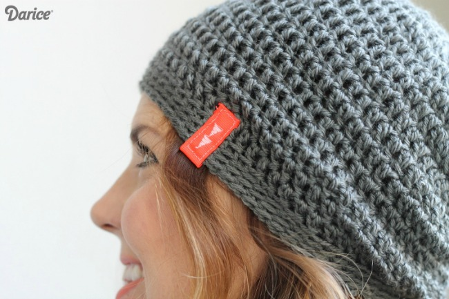 free crochet hat pattern - grey beanie
